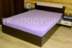 Купить фиолетовую махровую простынь на резинке в Брянске